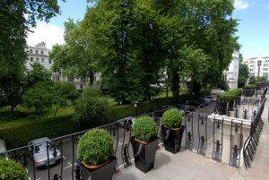 Garden view from Twin Garden Room - LHH